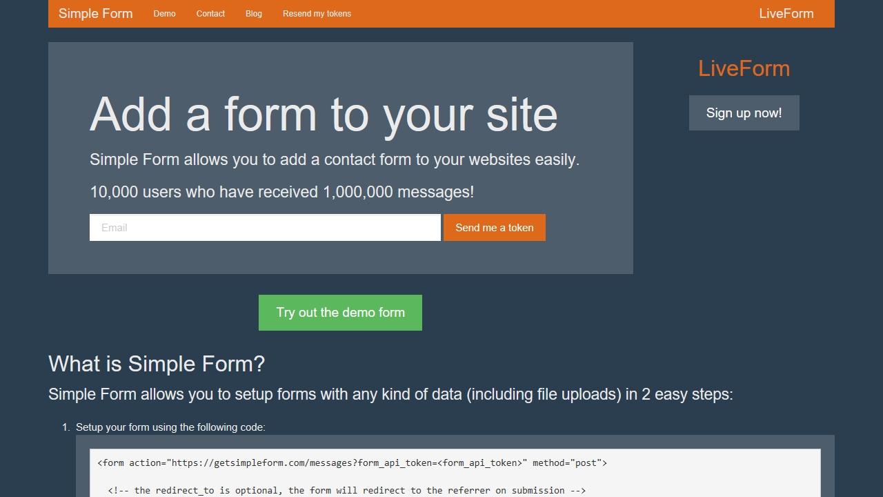 getsimpleform.com
