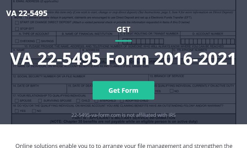 22-5495-va-form.com