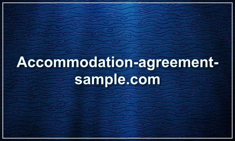accommodation-agreement-sample.com