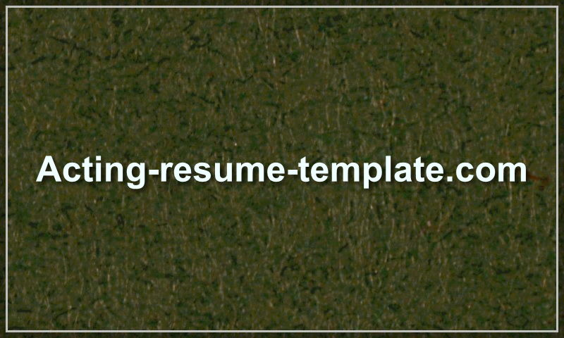 acting-resume-template.com