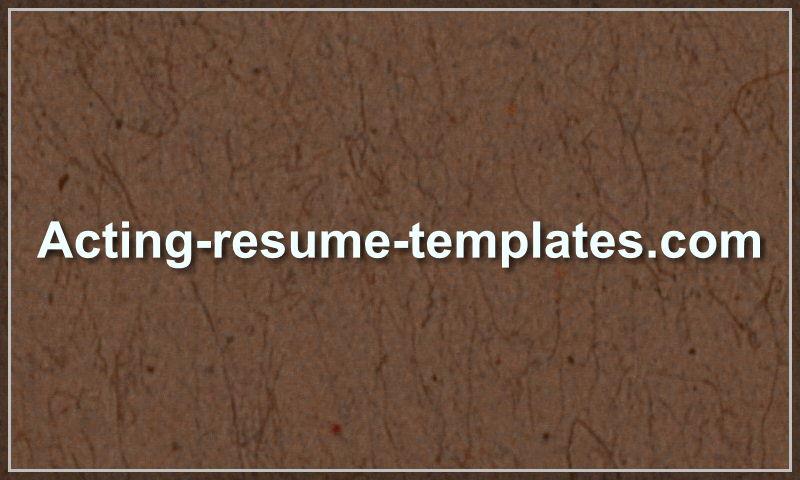 acting-resume-templates.com