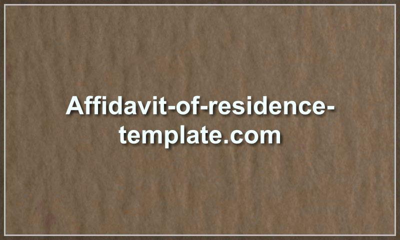 affidavit-of-residence-template.com
