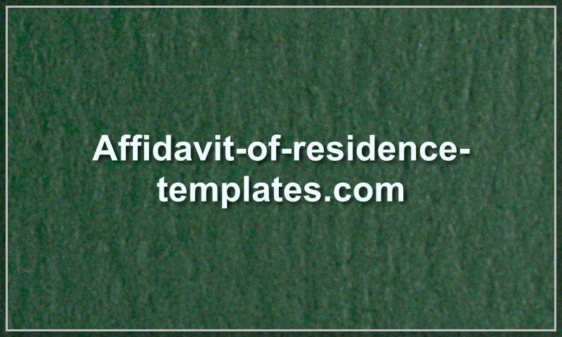 affidavit-of-residence-templates.com