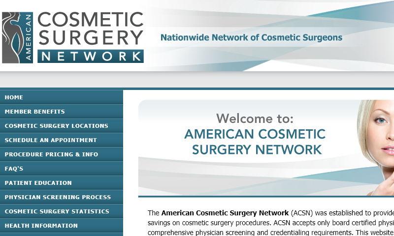 americancosmeticsurgerynetwork.com