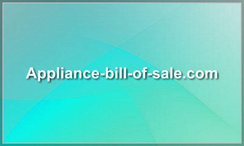 www.appliance-bill-of-sale.com