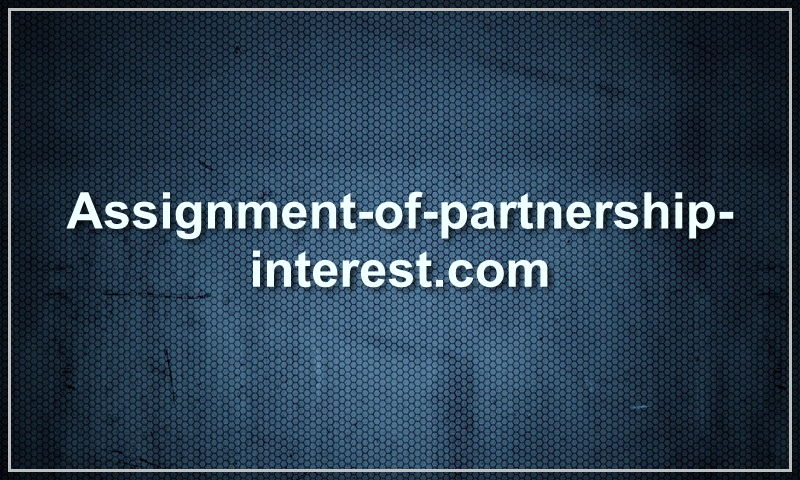 assignment-of-partnership-interest.com