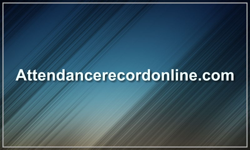 attendancerecordonline.com
