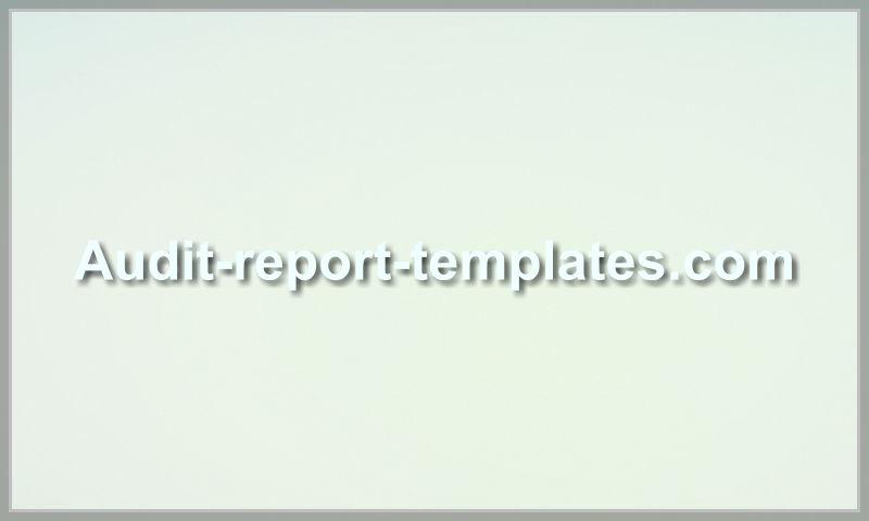 audit-report-templates.com
