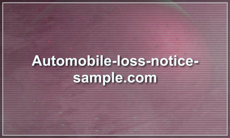 automobile-loss-notice-sample.com