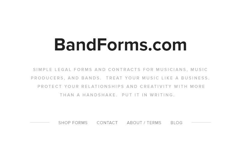 bandforms.com