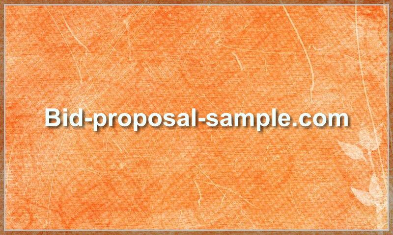 bid-proposal-sample.com