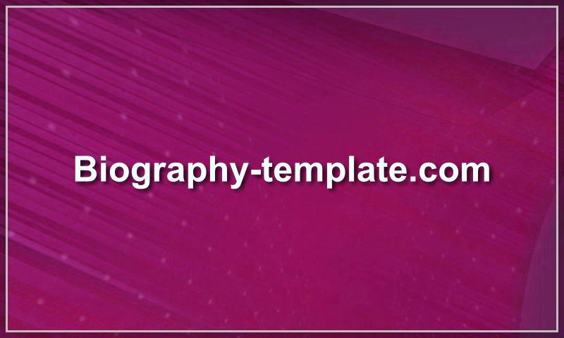 biography-template.com