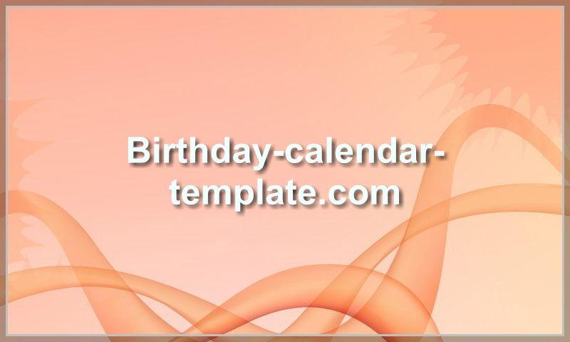 birthday-calendar-template.com