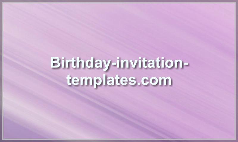birthday-invitation-templates.com