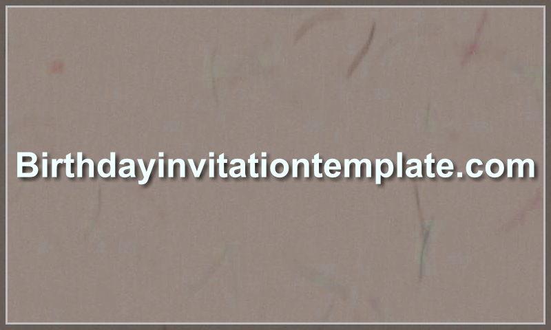birthdayinvitationtemplate.com