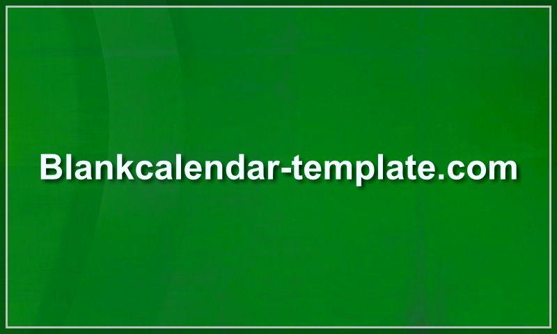 blankcalendar-template.com