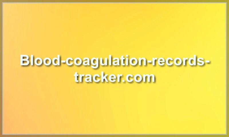 blood-coagulation-records-tracker.com