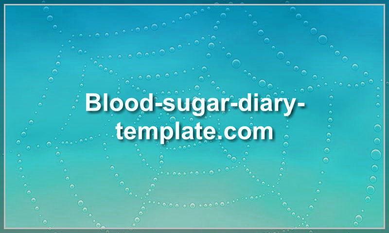 blood-sugar-diary-template.com