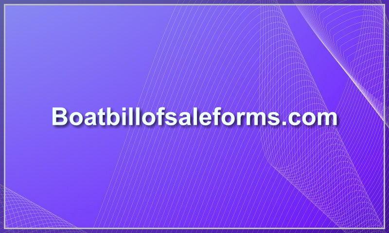 boatbillofsaleforms.com