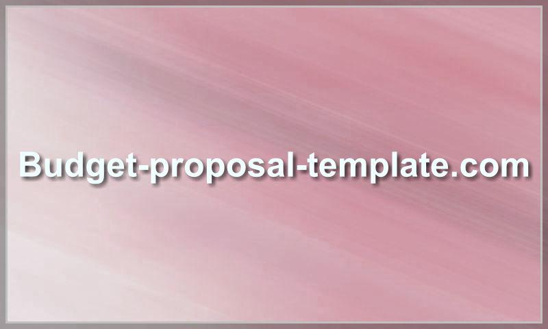 budget-proposal-template.com