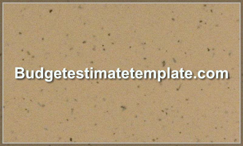 budgetestimatetemplate.com