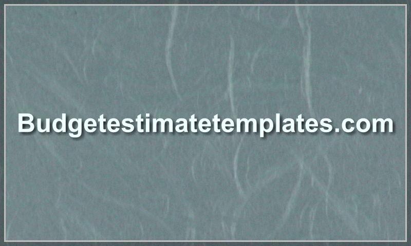 budgetestimatetemplates.com