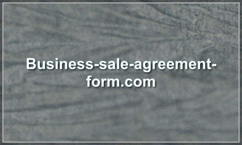 business-sale-agreement-form.com