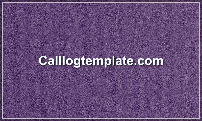 calllogtemplate.com