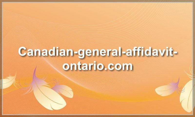 canadian-general-affidavit-ontario.com