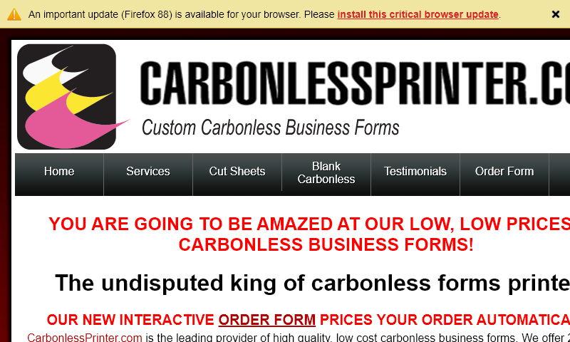 carbonlessprinter.com