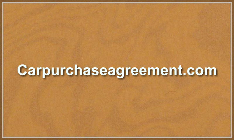 carpurchaseagreement.com