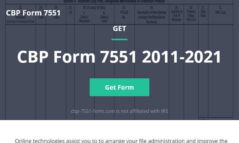 cbp-7551-form.com