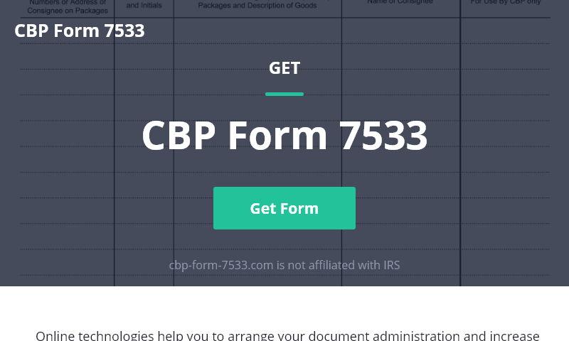 cbp-form-7533.com