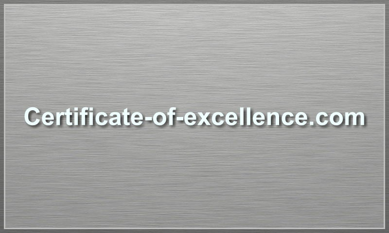 certificate-of-excellence.com