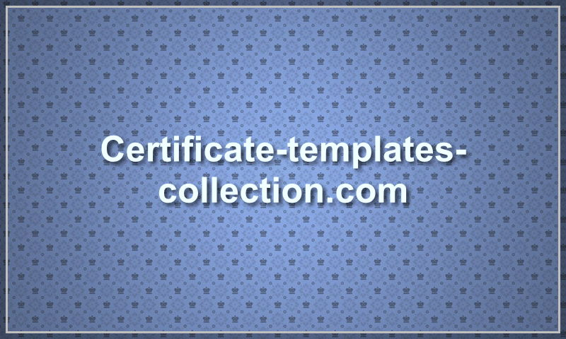 certificate-templates-collection.com