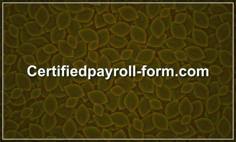 certifiedpayroll-form.com