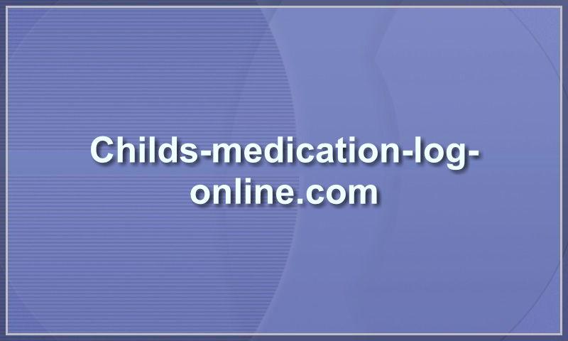 childs-medication-log-online.com