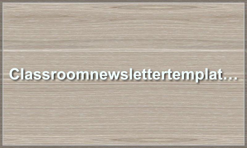 classroomnewslettertemplate.com