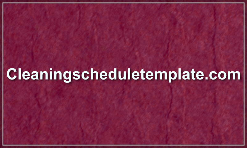 cleaningscheduletemplate.com