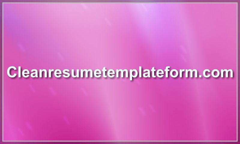 cleanresumetemplateform.com.jpg