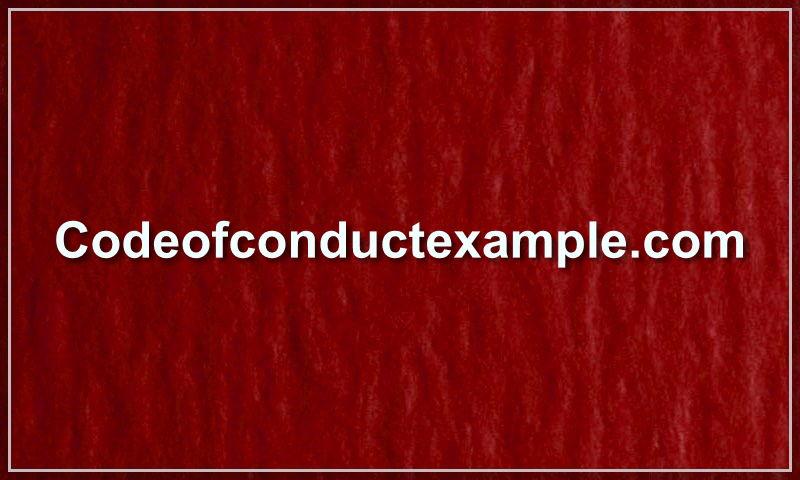 codeofconductexample.com