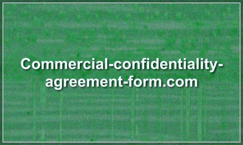 commercial-confidentiality-agreement-form.com