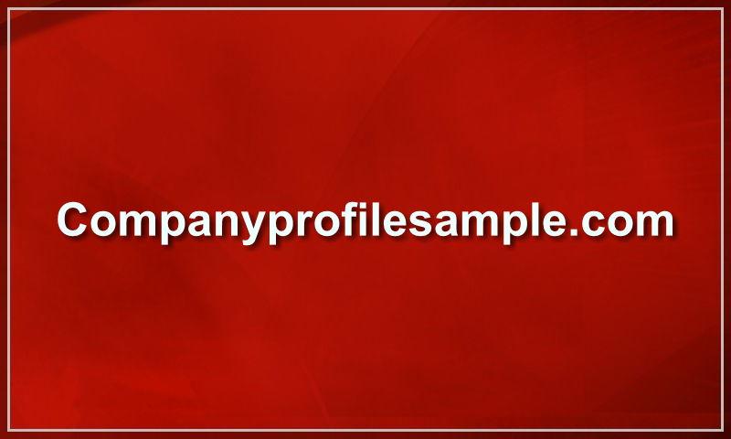 companyprofilesample.com