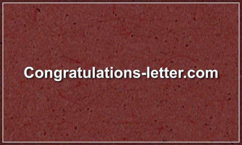 congratulations-letter.com