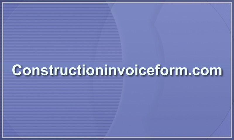 constructioninvoiceform.com