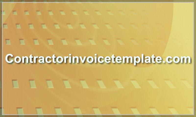 contractorinvoicetemplate.com