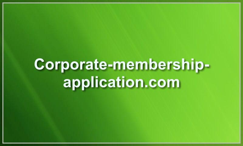 corporate-membership-application.com