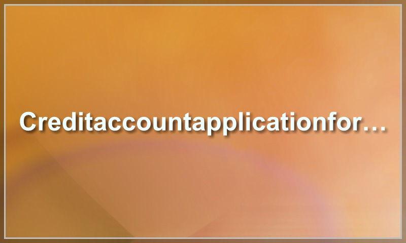 creditaccountapplicationform.com