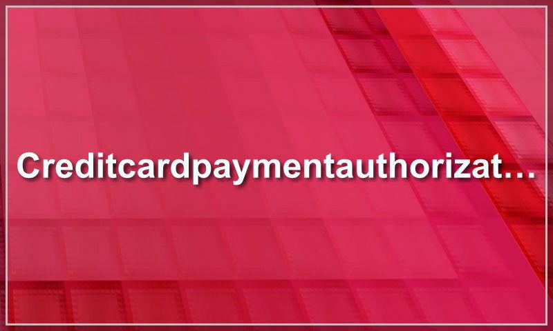 creditcardpaymentauthorizationtemplate.com