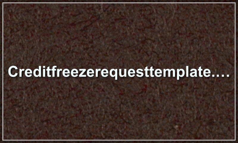creditfreezerequesttemplate.com